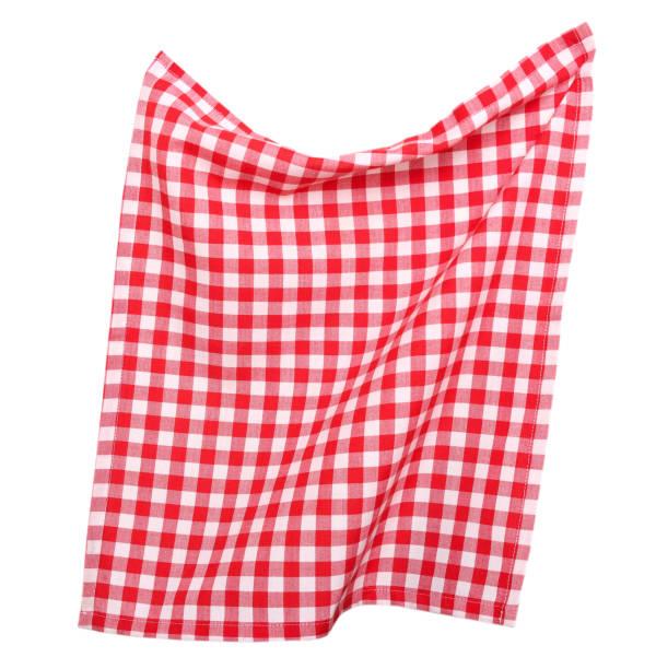 tabkecloth isoliert. picknick-handtuch. - rotes oberteil stock-fotos und bilder