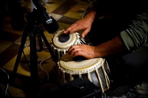 Tabla Music Close up Hand Concert