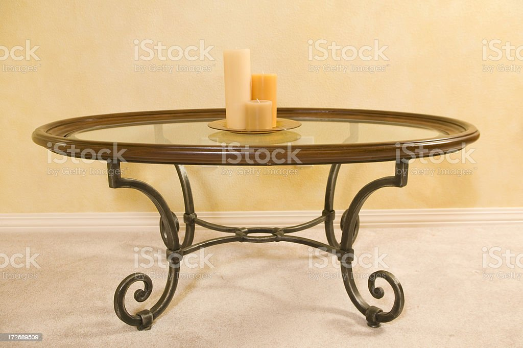 Table and Candles royalty-free stock photo