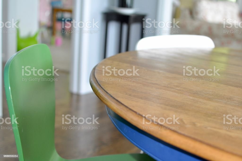 Table and Chair Close-up stock photo