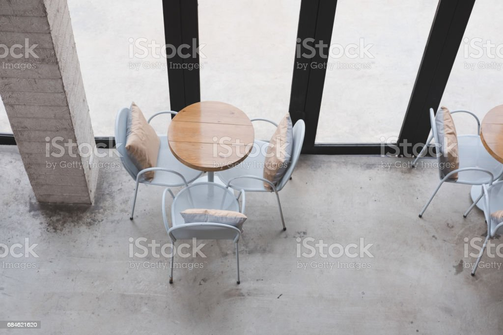 Table And Chair In Food Court Cafe Coffee Shop Restaurant Interior Stock Photo Download Image Now Istock