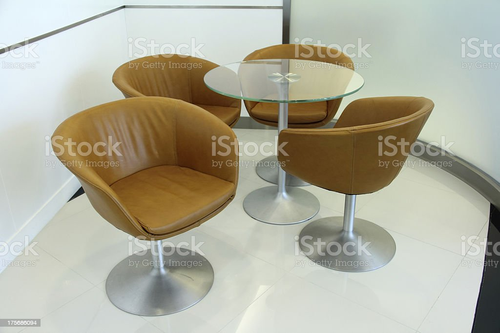 Table and chair set royalty-free stock photo