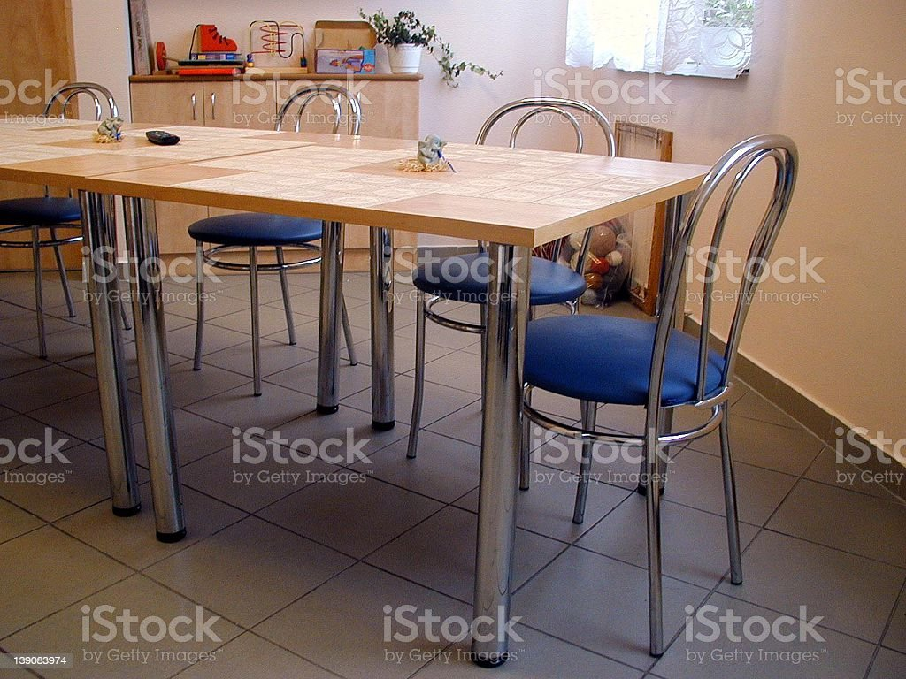Table and chairs royalty-free stock photo