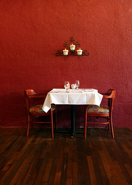 Table and chairs A private dining table with two chairs table for two stock pictures, royalty-free photos & images