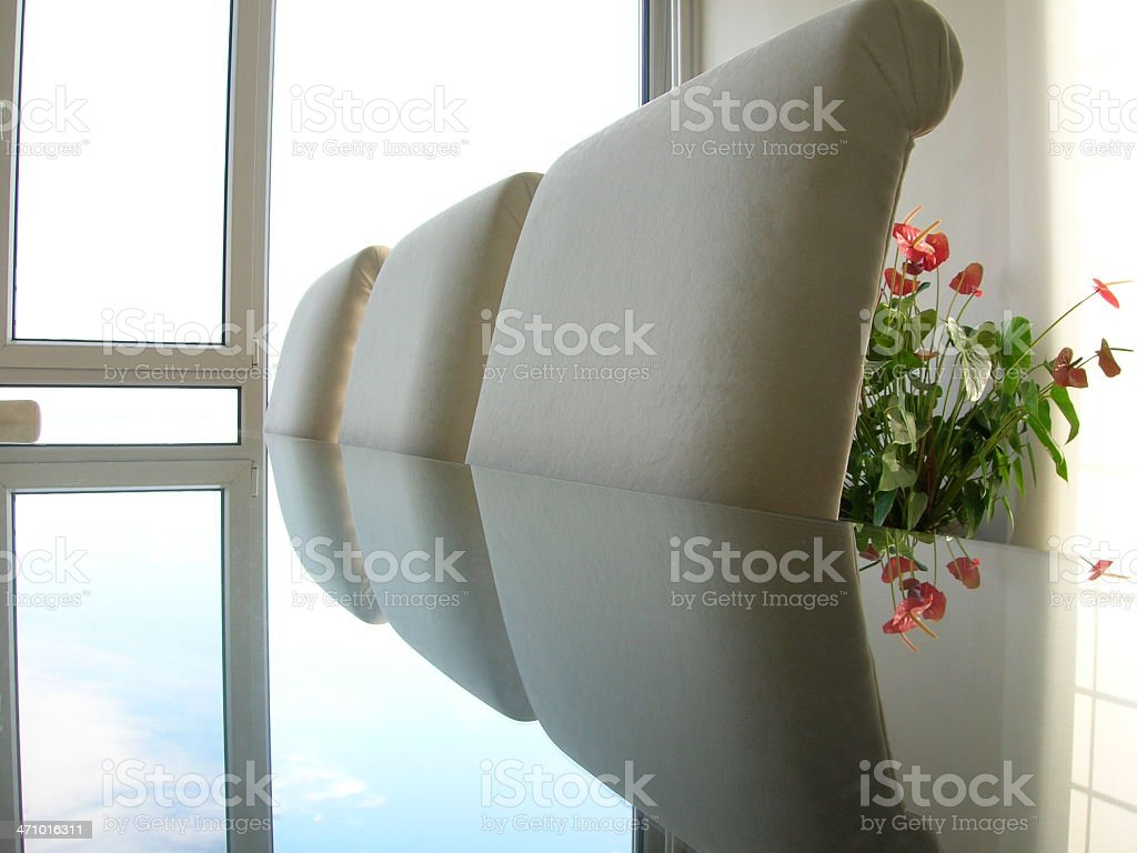 Table and Flower royalty-free stock photo