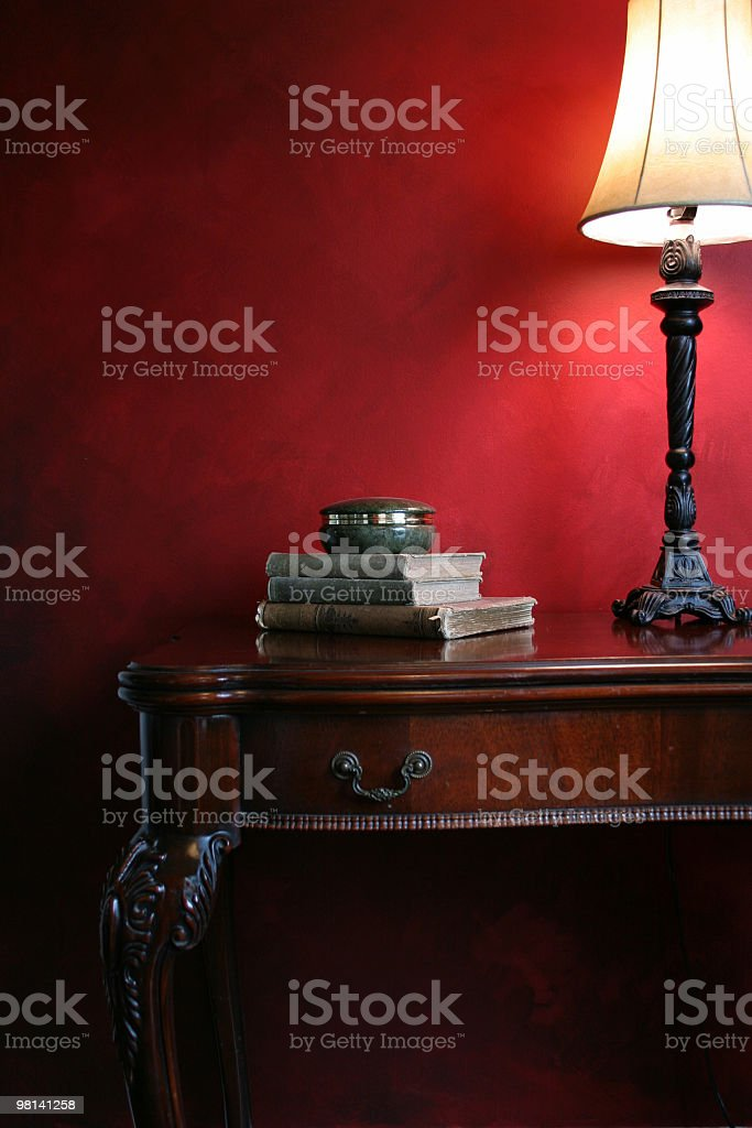 Table and Lamp royalty-free stock photo