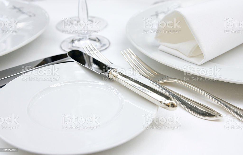Table arrangement royalty-free stock photo