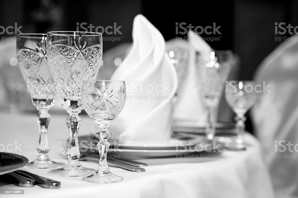 Table at restaurant. stock photo