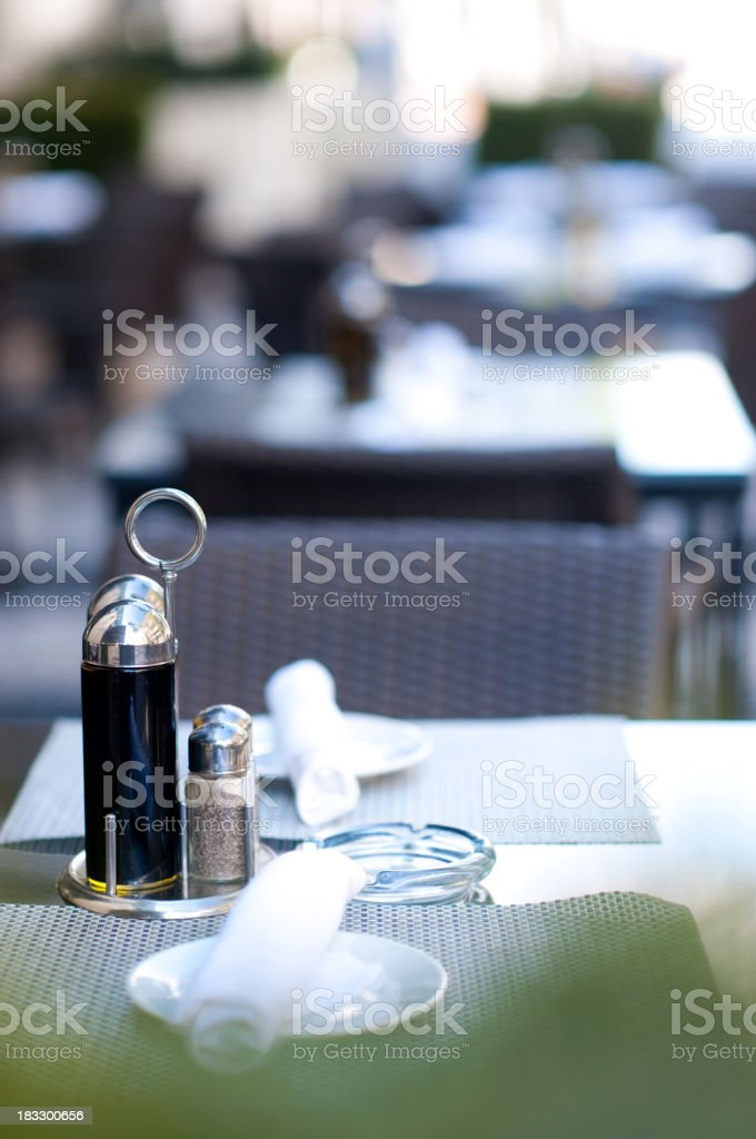 Table at Sidewalk Cafe royalty-free stock photo