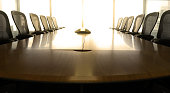 Table boardroom with chair in morning / meeting associate