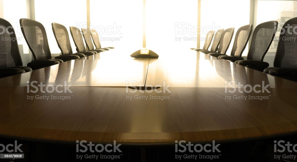 Table boardroom with chair in morning / meeting associate - foto de stock