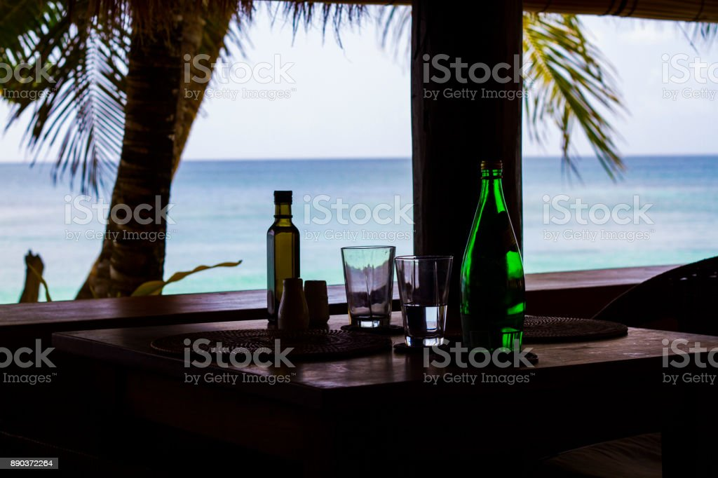 Table by the Beach stock photo