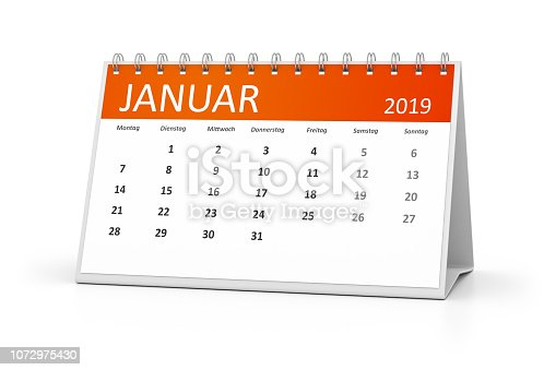 istock table calendar 2019 january german language 1072975430