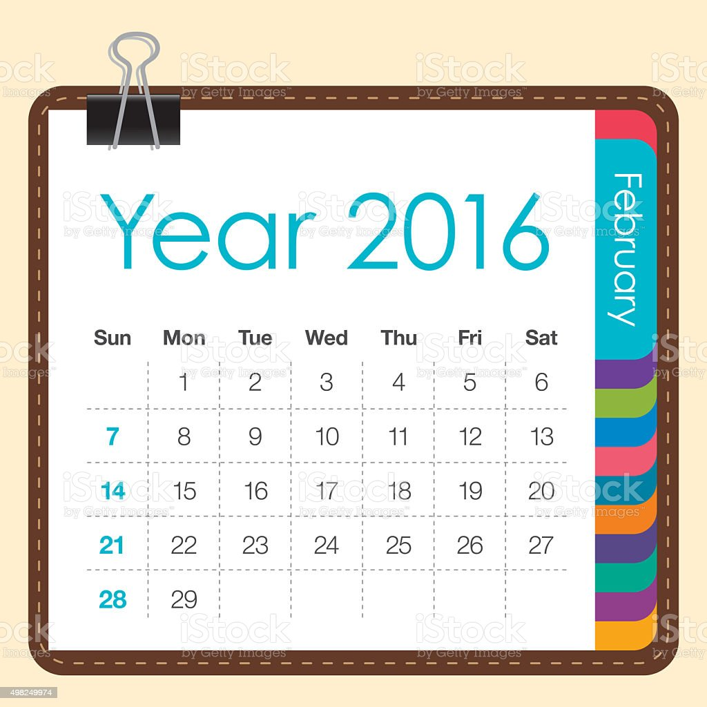 table calendar february 2016 stock photo more pictures of 2016