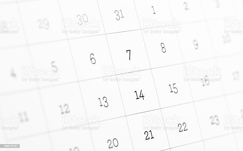 Table calendar page royalty-free stock photo