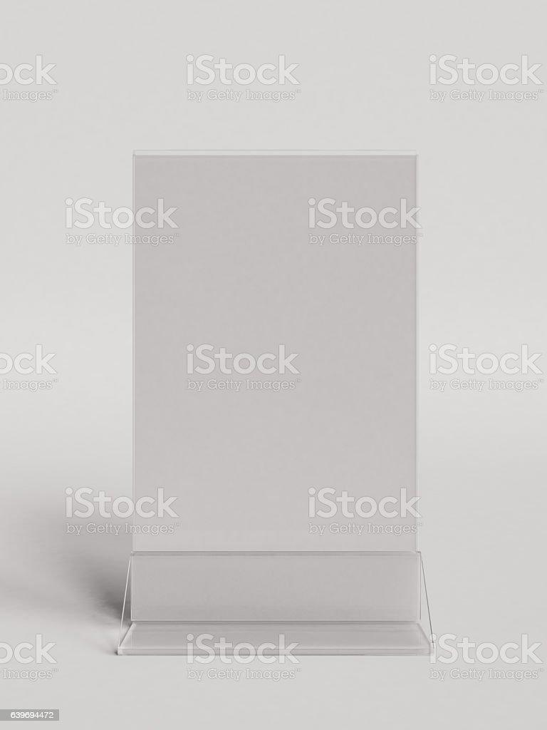 Table card. 3D illustration stock photo