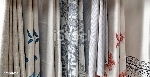 Variation ofTable cloths hanging