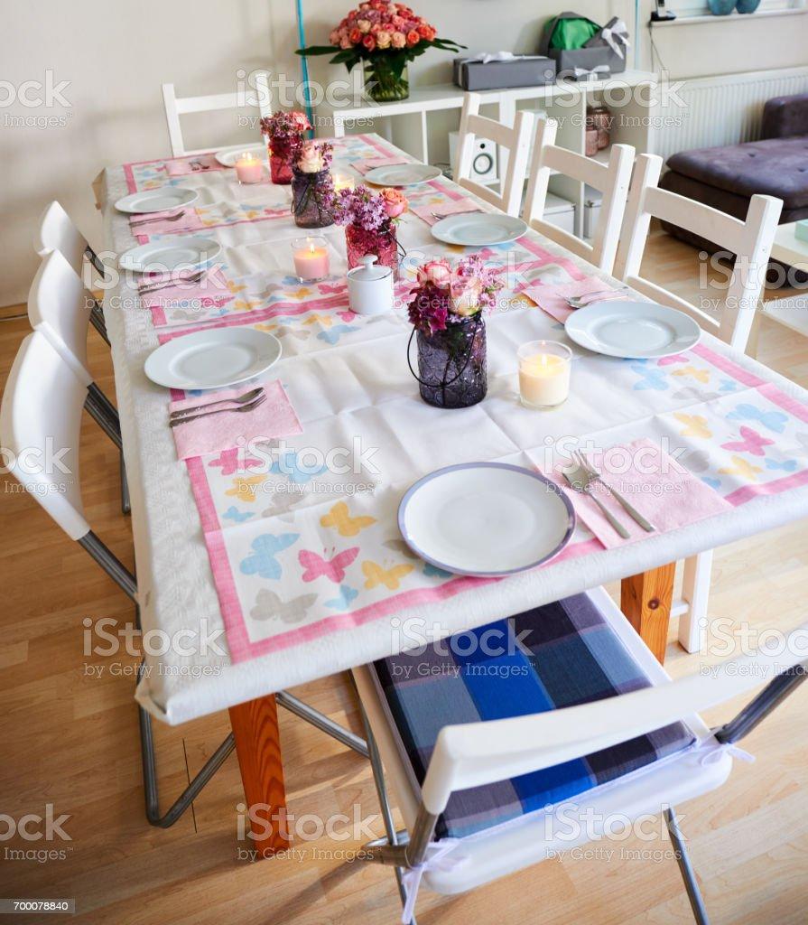 Deco De Table Bougie photo libre de droit de décoration de table pour fête