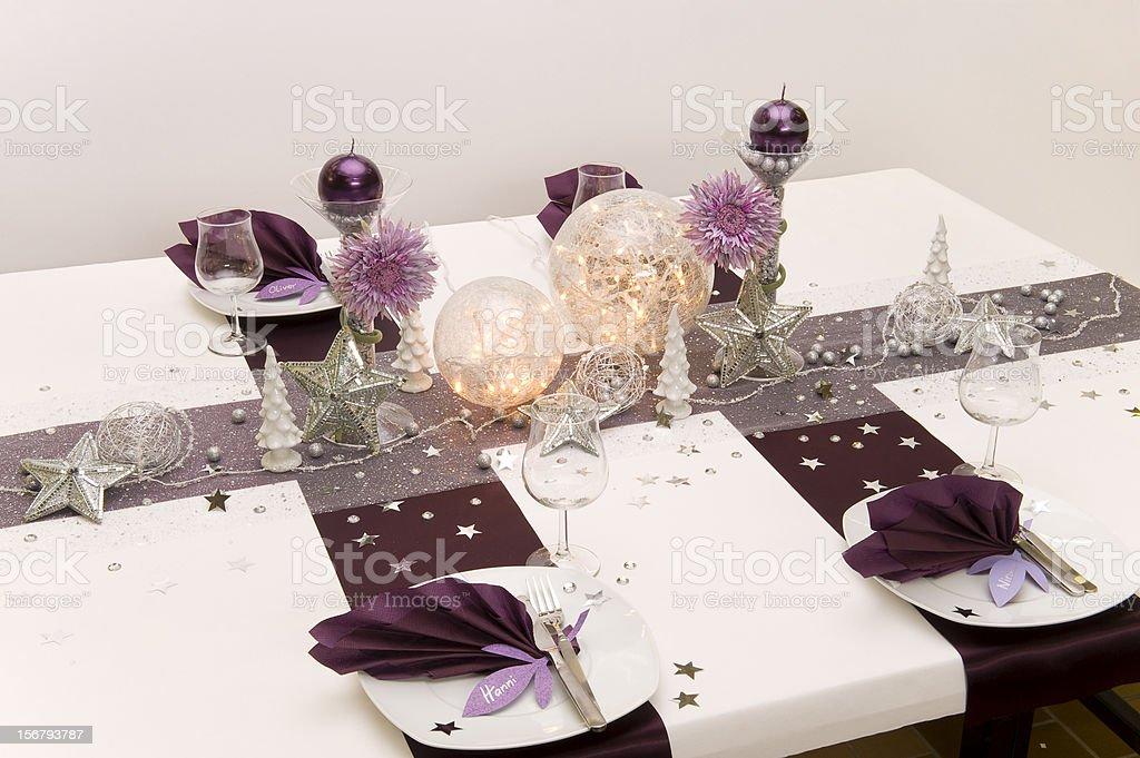 table decoration stock photo