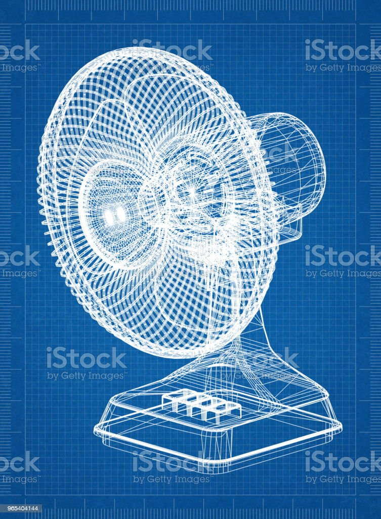 Table Fan Architect blueprint zbiór zdjęć royalty-free