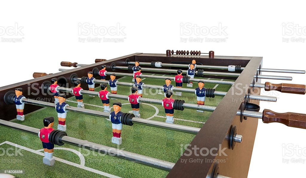 Table football game, Soccer table . stock photo