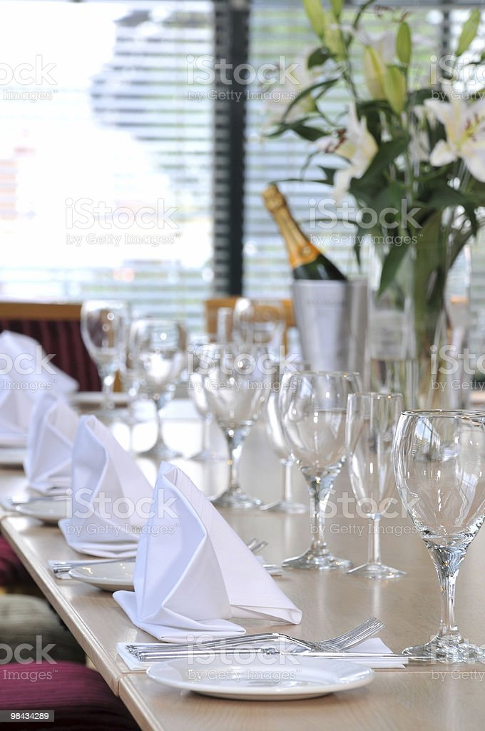 Table for celebration royalty-free stock photo