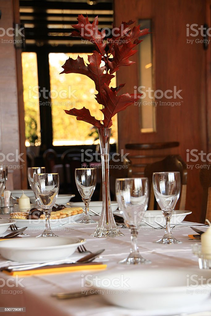 Table for dinner stock photo
