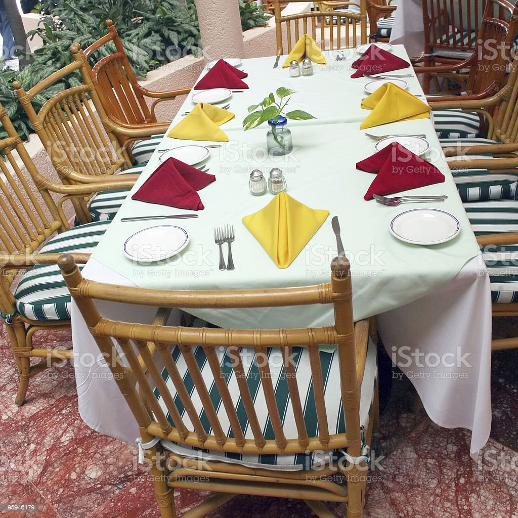 Table for Eight royalty-free stock photo
