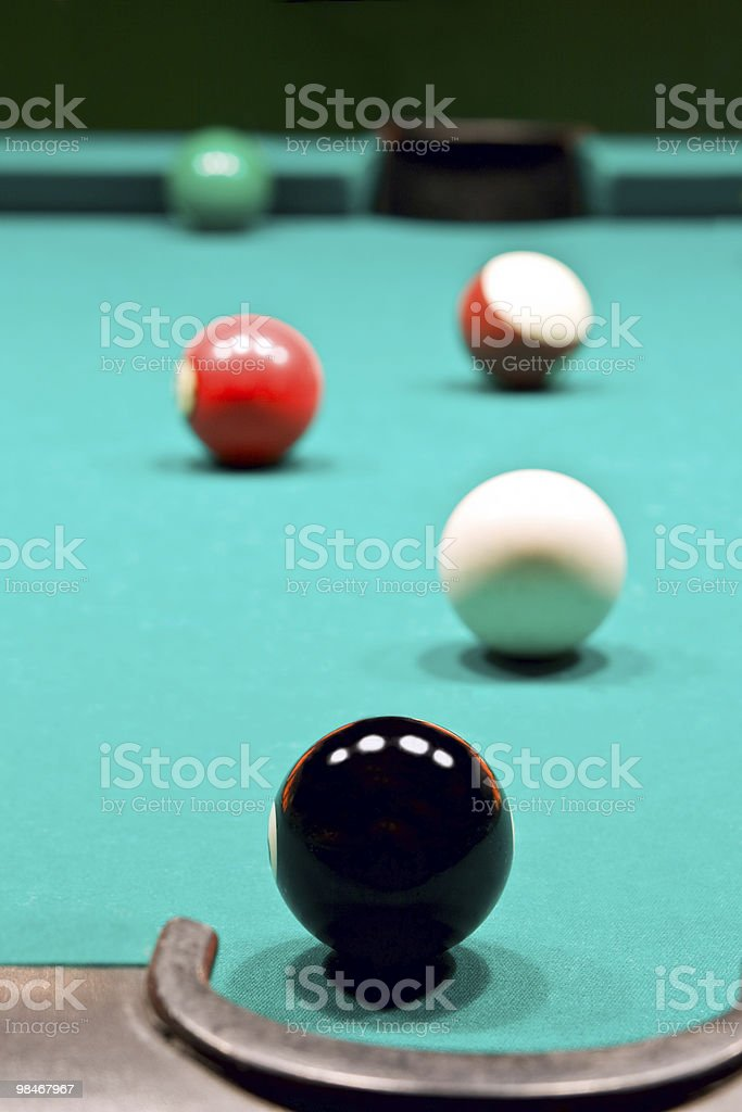Table for game in billiards royalty-free stock photo