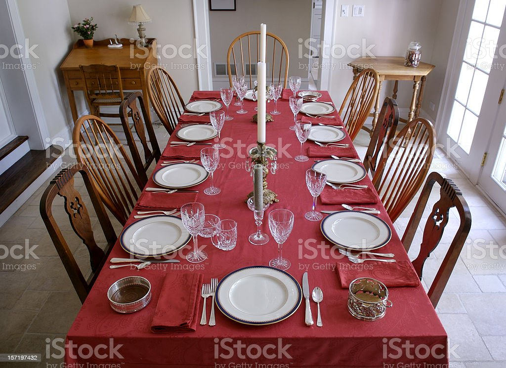 Table for Ten royalty-free stock photo