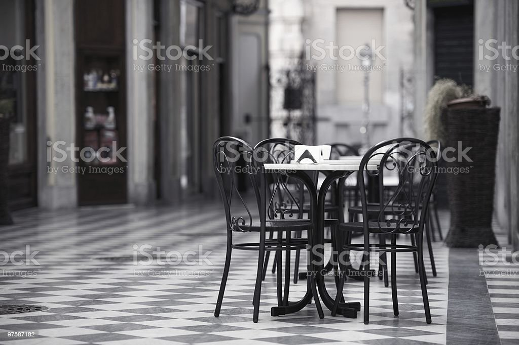 Table for three royalty-free stock photo