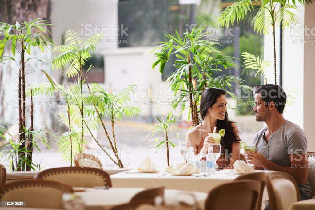 Table for two stock photo