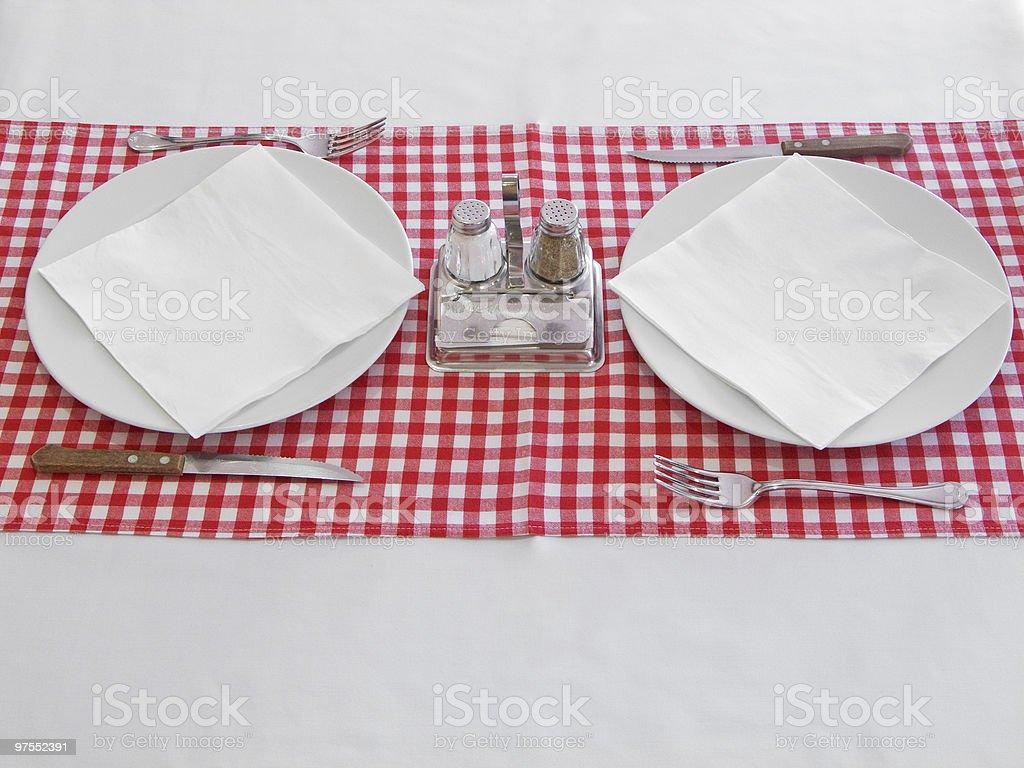 Table pour deux photo libre de droits