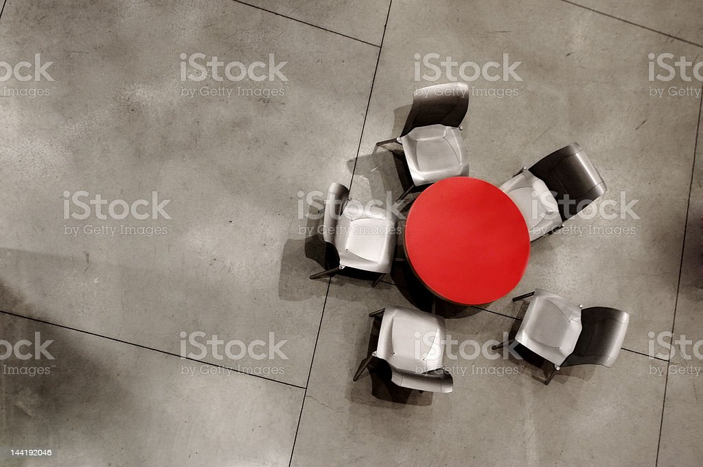 Table from above royalty-free stock photo