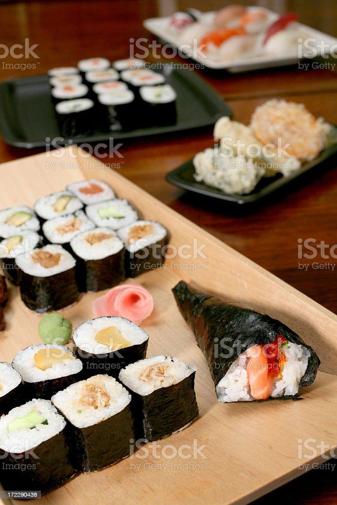 Table full of Sushi royalty-free stock photo