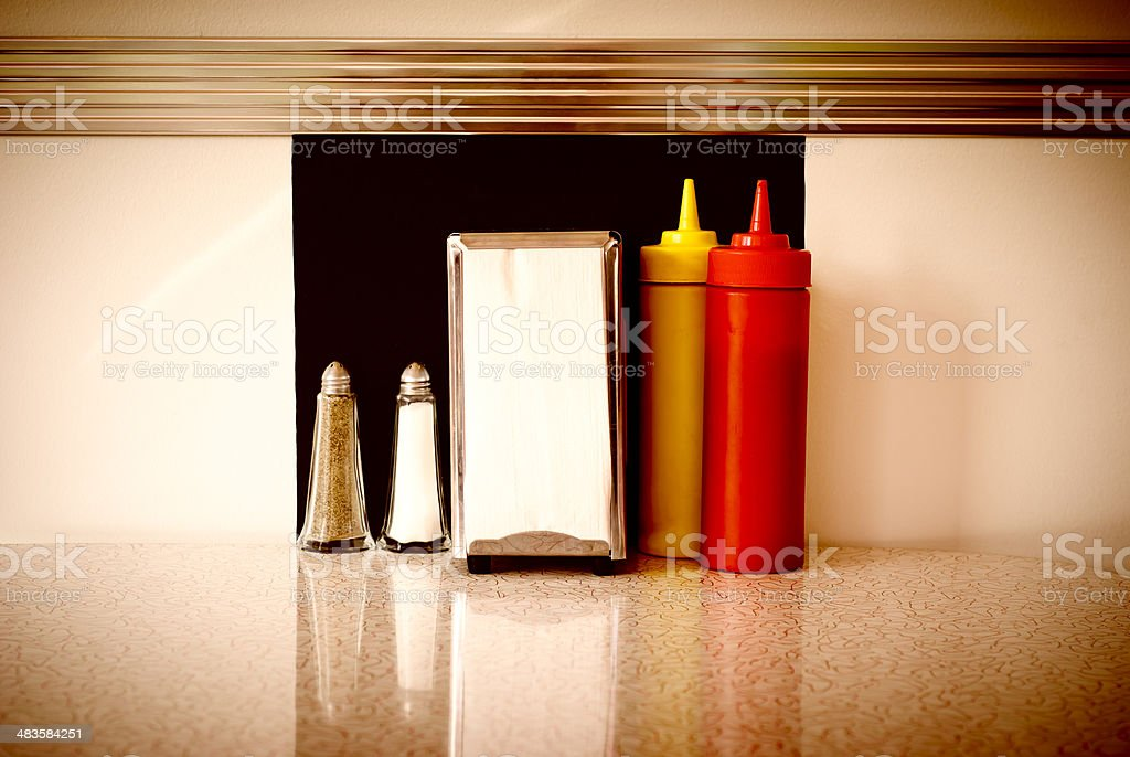 Table in a Diner stock photo