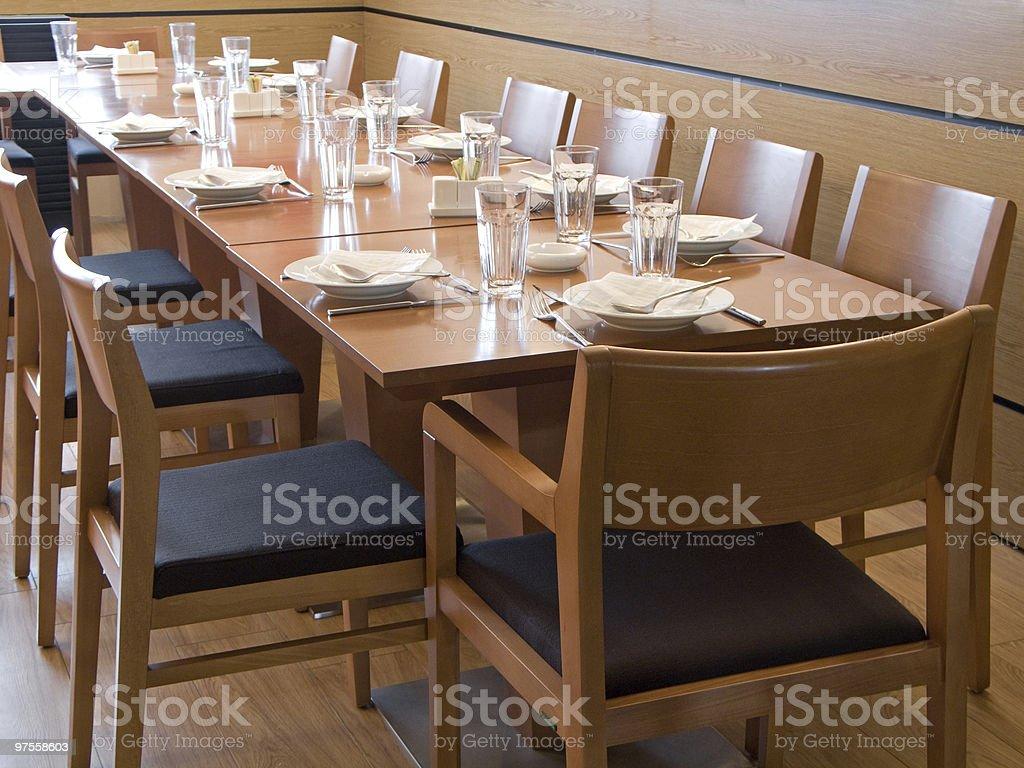 Table de la cafétéria photo libre de droits