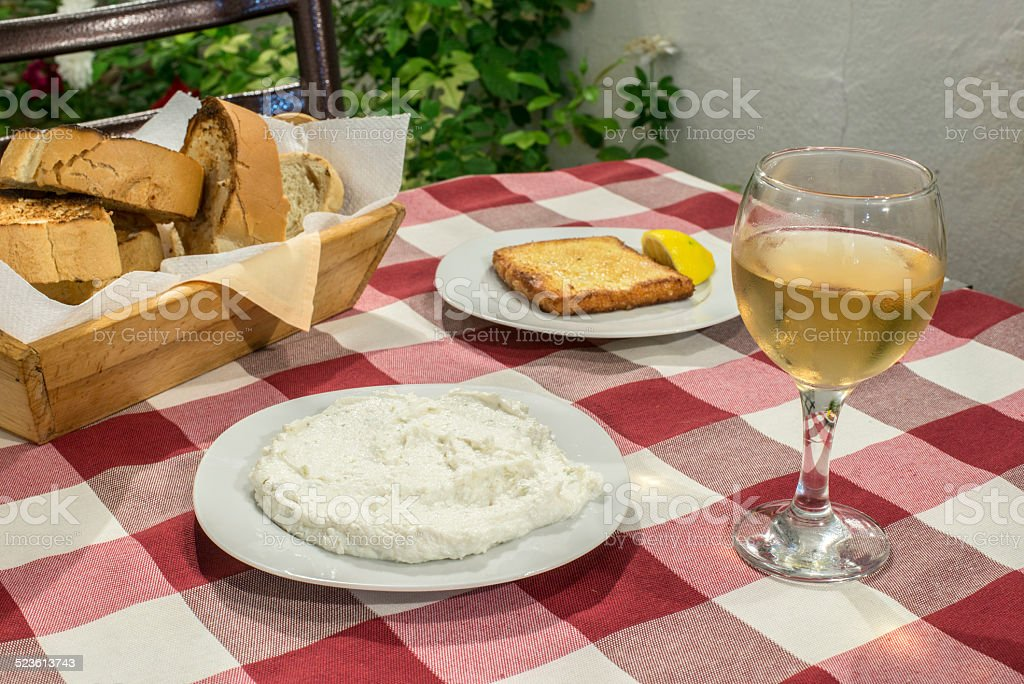 Table in restaurant stock photo