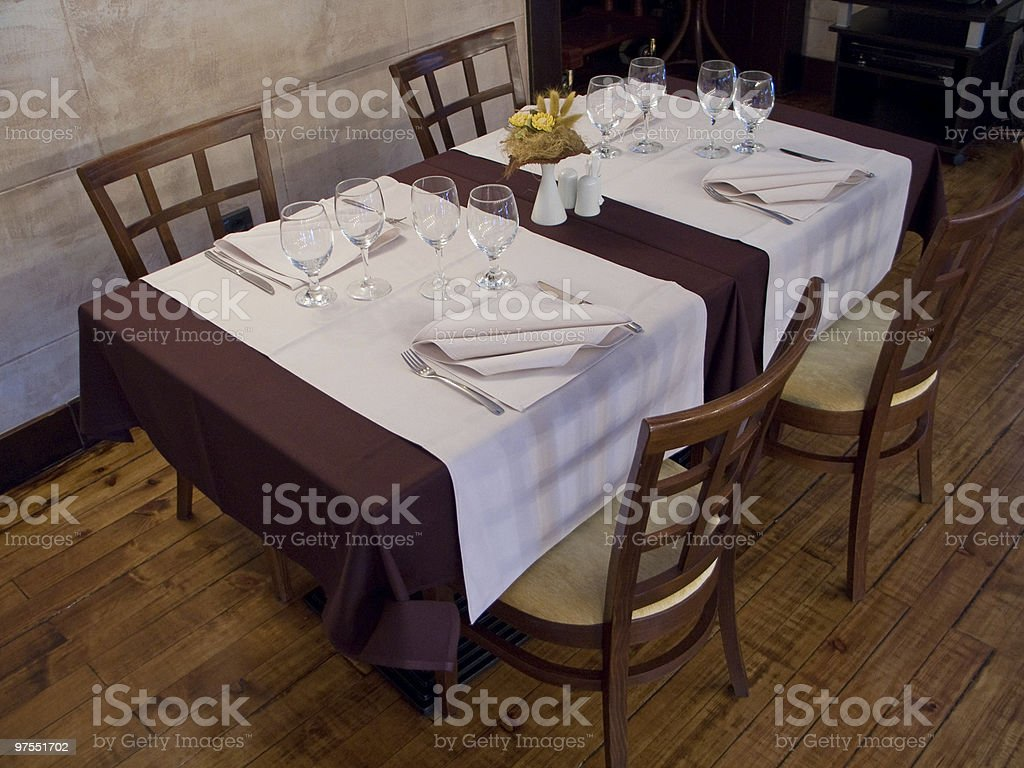 Table in Restaurant royalty-free stock photo