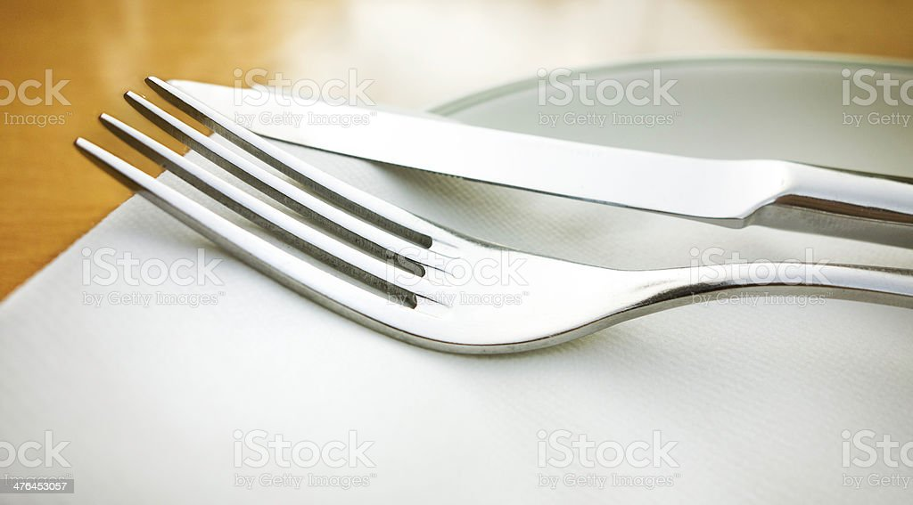 table knife and fork royalty-free stock photo