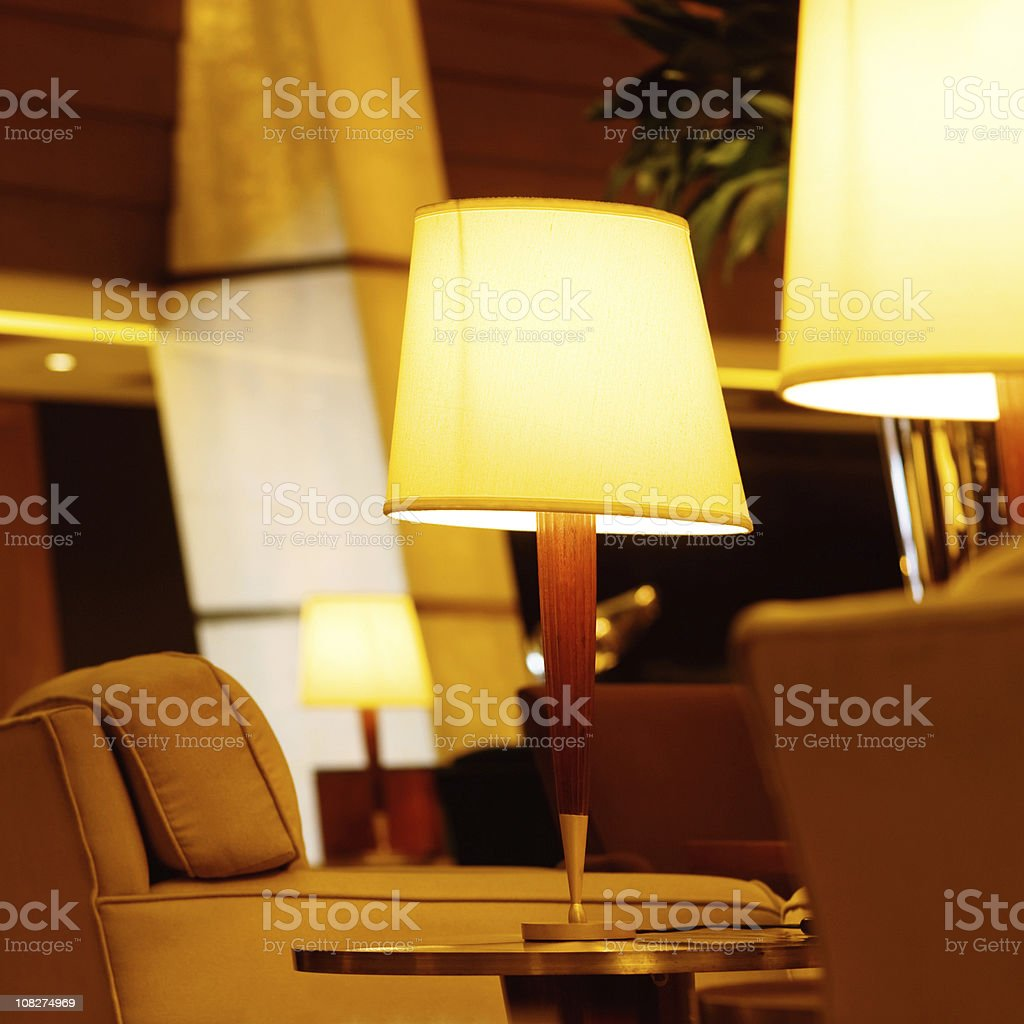 Table Lamp in Living Room royalty-free stock photo