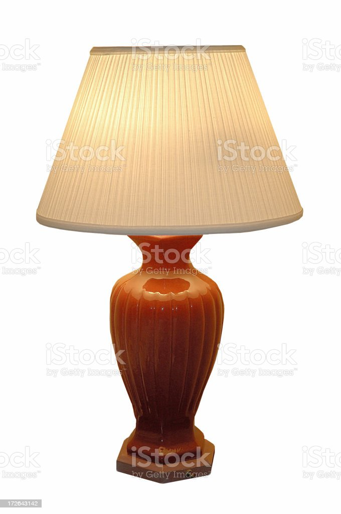 Table lamp isolated on white background royalty-free stock photo