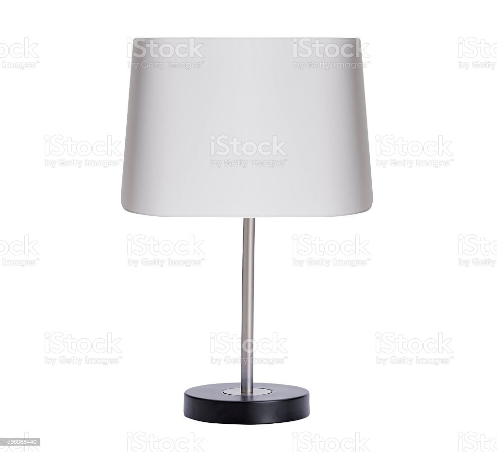 table lamp isolated on white stock photo