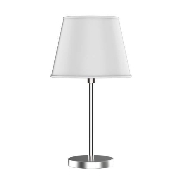 tisch lampe isoliert auf weiss - bürolampe stock-fotos und bilder