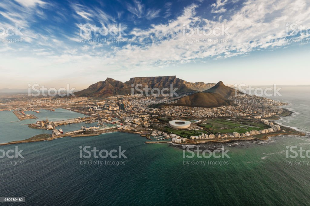 Table Mountain Aerial stock photo