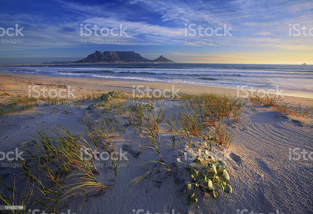 Table Mountain and Cape Town royalty-free stock photo
