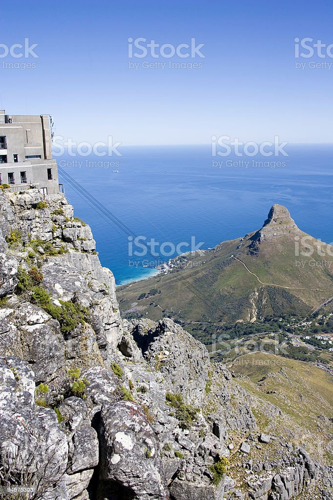 Table Mountain Cable Car royalty-free stock photo