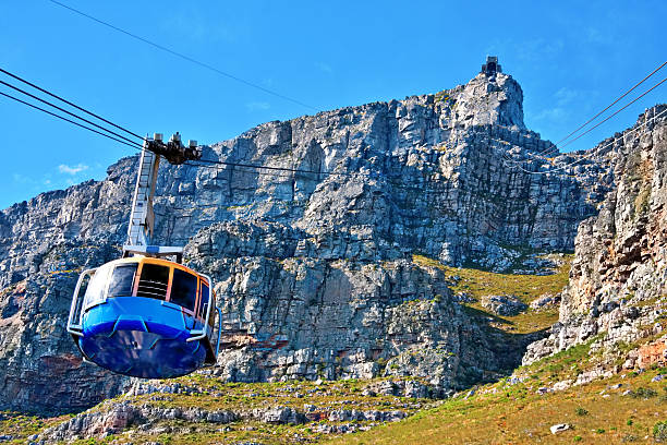 table mountain cable way - table mountain national park stock pictures, royalty-free photos & images