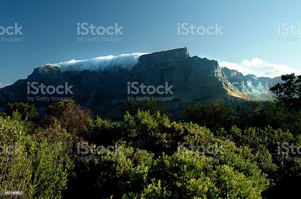 Table Mountain Cape Town stock photo