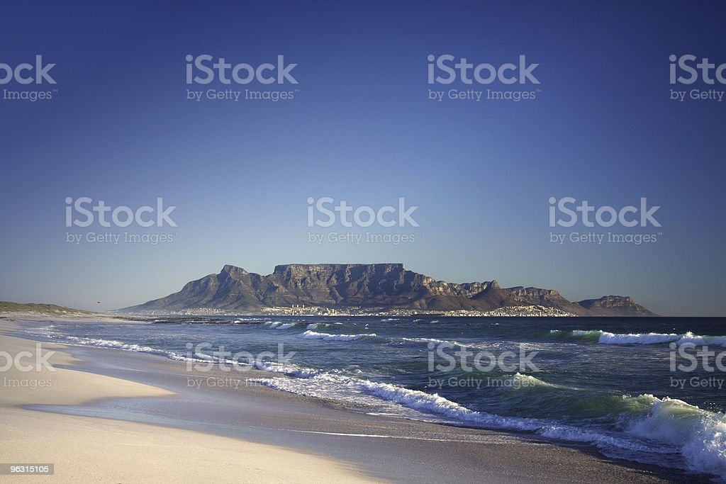 table mountain cape town royalty-free stock photo